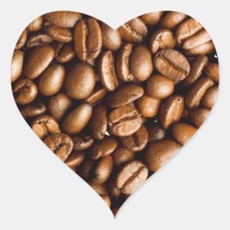 Coffee Beans Heart Sticker