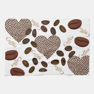 "Coffee Beans Kitchen Towel 16"" x 24"""