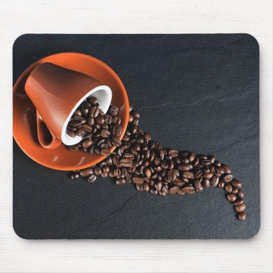 Coffee beans & mug mouse mat