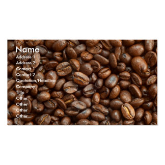 COFFEE BEANS PACK OF STANDARD BUSINESS CARDS