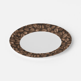 Coffee beans paper plate