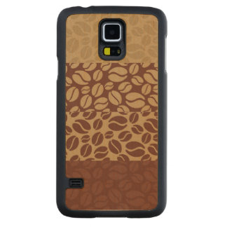 Coffee Beans Pattern Carved Maple Galaxy S5 Case