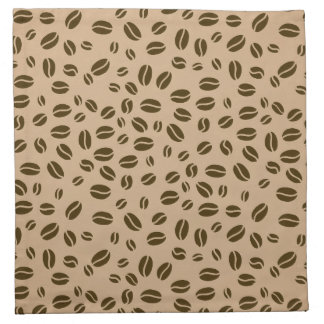 Coffee beans pattern cloth napkin