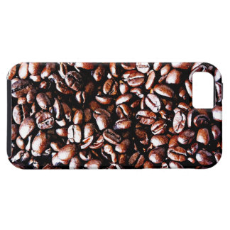 Coffee Beans Pattern - Dark Roast iPhone 5 Cases