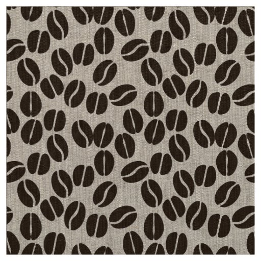 coffee beans pattern fabric