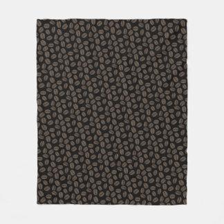 Coffee Beans Pattern Fleece Blanket