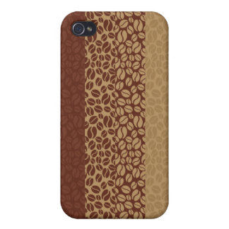 Coffee Beans Pattern iPhone 4 Covers