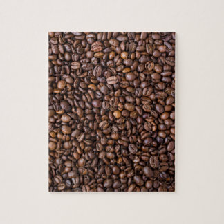 Coffee beans pattern jigsaw puzzle
