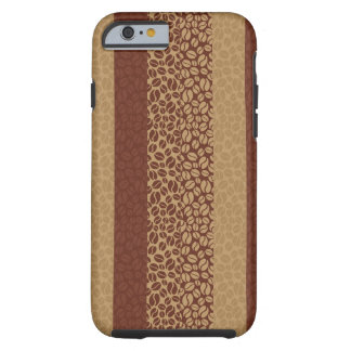 Coffee Beans Pattern Tough iPhone 6 Case