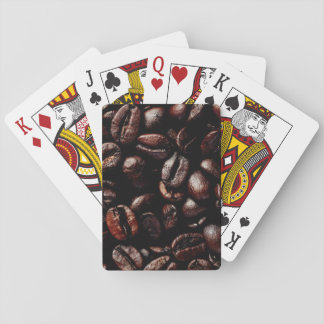 Coffee beans playing cards