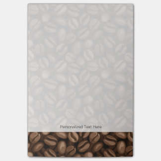 Coffee beans post-it notes