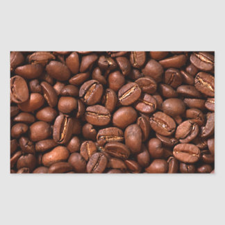 Coffee Beans Rectangular Sticker