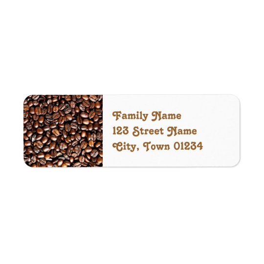 Coffee Beans Return Address Label