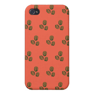 coffee beans tangerine covers for iPhone 4