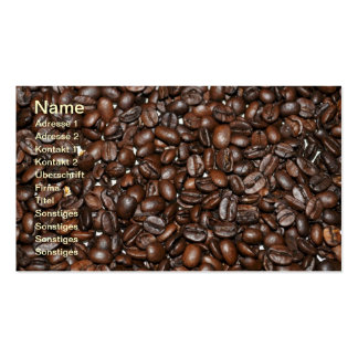 Coffee beans - visiting card business card templates