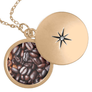 Coffee Beans - whole light and dark roasted Necklaces