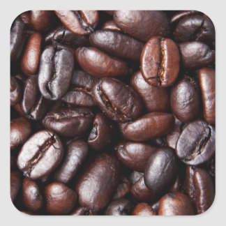 Coffee Beans - whole light and dark roasted Square Sticker