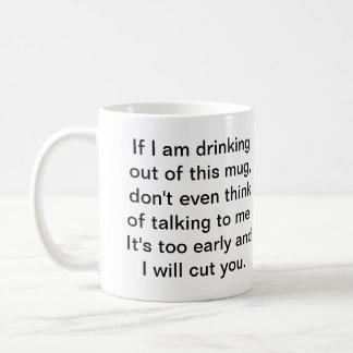 Coffee Before Safe Conversation Basic White Mug