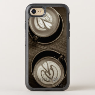 Coffee Between Friends Sepia Unique Modern Trendy OtterBox Symmetry iPhone 8/7 Case