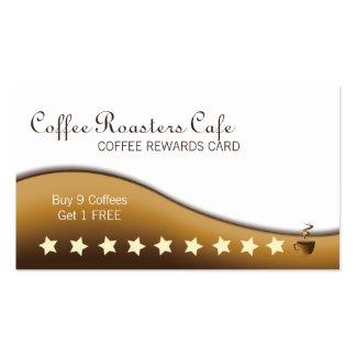 Coffee Beverage Rewards Business Card - Mug Cup