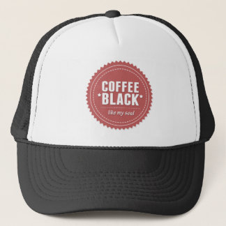 coffee black trucker hat