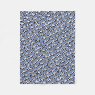 Coffee Bluish Fleece Blanket
