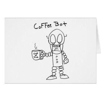 Coffee Bot Greeting Card