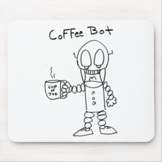 Coffee Bot Mouse Pads