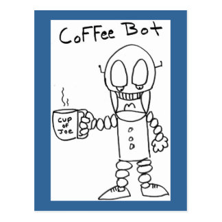 Coffee Bot Postcard