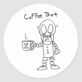 Coffee Bot Stickers