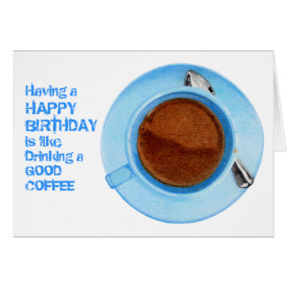 coffee birthday greeting cards  zazzle.co.uk, Birthday card