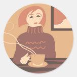 Coffee Break Round Sticker