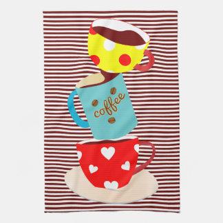 Coffee Break Stripes Tea Towel