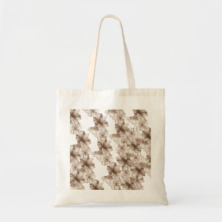Coffee Brown Illustrated Flower Floral Pattern Bags