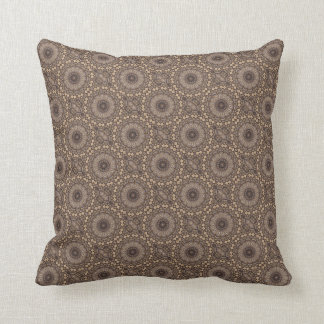 Coffee Brown Repeating Pattern Cushion