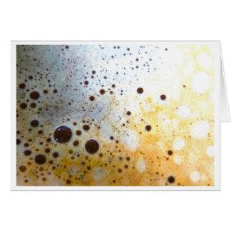 Coffee Bubbles Birthday Card