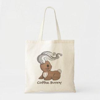 Coffee Bunny Budget Tote Bag