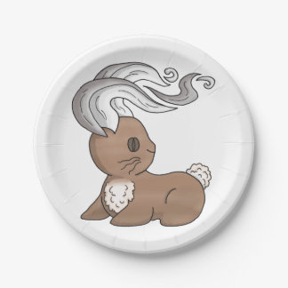 Coffee Bunny Paper Plate