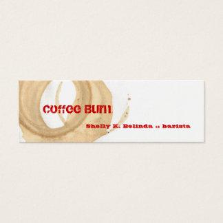 Coffee Burn Barista Mini Business Card