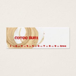 Coffee Burn Mini Business Card