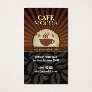 Coffee Burst Cafe Loyalty Business Card