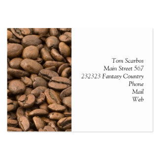 coffee large business cards (Pack of 100)
