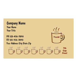 Coffee Businss Cards Pack Of Standard Business Cards