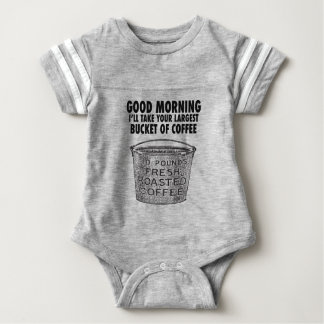 Coffee by the bucket baby bodysuit