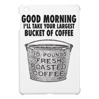 Coffee by the bucket iPad mini covers
