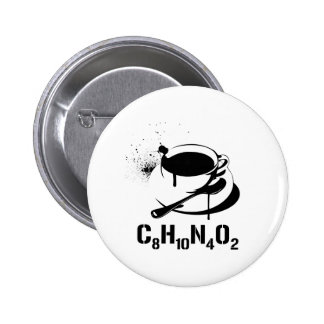 Coffee C8H10N4O2 6 Cm Round Badge