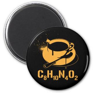 Coffee C8H10N4O2 6 Cm Round Magnet