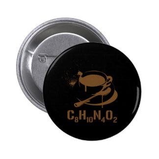 Coffee C8H10N4O2 Pinback Button