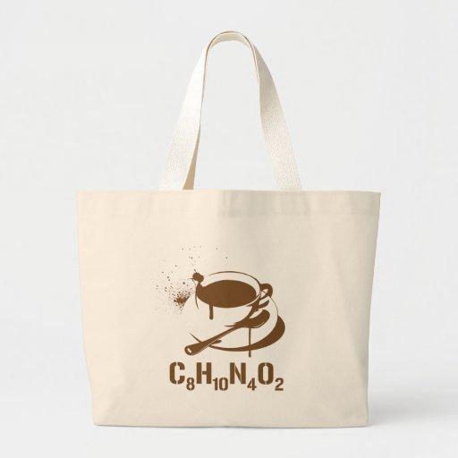 Coffee C8H10N4O2 Tote Bag