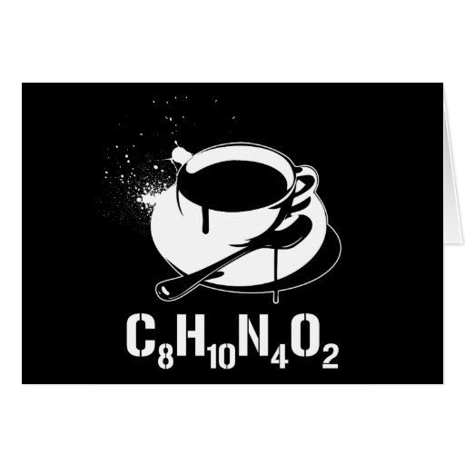 Coffee C8H10N4O2 Greeting Card